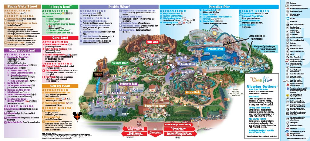 California Adventure Park Map DISNEY CALIFORNIA ADVENTURE® Park Map   Pavilions